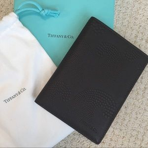 New Tiffany & Co. Mahogany Leather Passport Cover